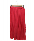 TIARA(ティアラ)の古着「スパンサテンギャザースカート」 ピンク