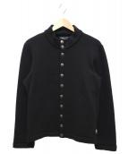 agnes b homme(アニエスベー オム)の古着「スナップボタンカーディガン」|ブラック