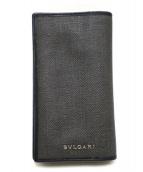 BVLGARI(ブルガリ)の古着「PVC2つ折り長財布」|グレー