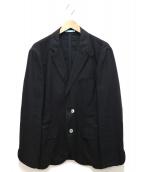PS Paul Smith(ピーエスポールスミス)の古着「リネンテーラードジャケット」|ブラック