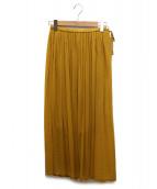 Pao.de.lo(パオデロ)の古着「ボイルプリーツスカート」 イエロー