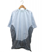 Julien David(ジュリアンデイヴィッド)の古着「切替ロングカットソー」|ブルー