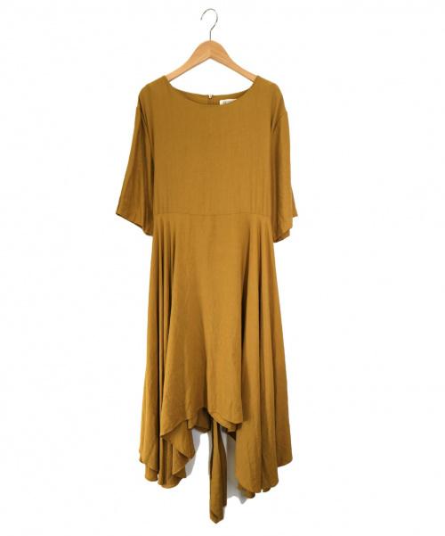 GHOSPELL(ゴスペル)GHOSPELL (ゴスペル) ウエストマークサックワンピース イエロー サイズ:Sの古着・服飾アイテム