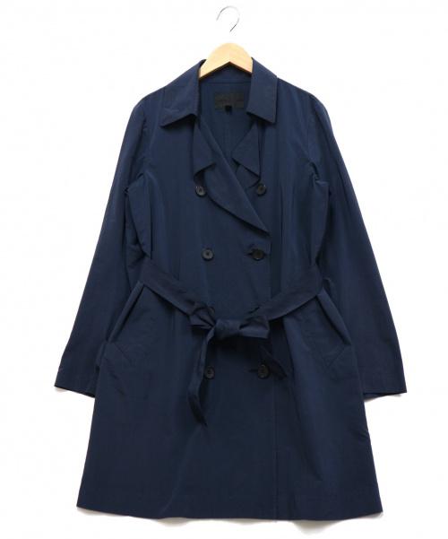icB(アイシービー)icB (アイシービー) ナイロンタフタトレンチコート ネイビー サイズ:6の古着・服飾アイテム