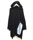 B Yohji Yamamoto(ビー ヨウジヤマモト)の古着「天竺BスタンプPTフード」|ブラック