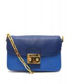 MIU MIU(ミュウミュウ)の古着「チェーンショルダーレザーバッグ」|ブルー