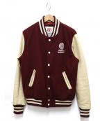 Franklin & Marshall(フランクリンマーシャル)の古着「バーシティジャケット」|ボルドー×ホワイト