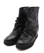 ZUCCA(ズッカ)の古着「レザージップブーツ」|ブラック
