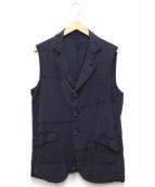 CASEY VIDALENC(ケイシー ヴィダレンク)の古着「シルク染色ロングジレ」 ネイビー