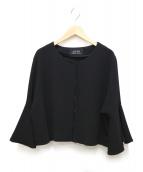 4298 SHIZUKA KOMURO(ヨンニキュウハチ シズカ コムロ)の古着「ノーカラージャケット」|ブラック