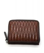KOHCHOSAI KOSUGA(公長齋小菅)の古着「網代編み2つ折り財布」|ブラウン