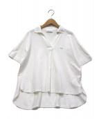 LACOSTE(ラコステ)の古着「スキッパーネックポロ」|ホワイト