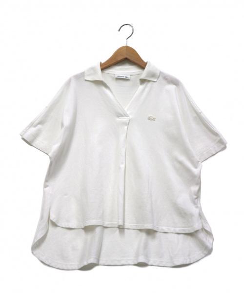 LACOSTE(ラコステ)LACOSTE (ラコステ) スキッパーネックポロ ホワイト サイズ:36 19SSの古着・服飾アイテム