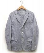 BEAMS PLUS(ビームスプラス)の古着「シアサッカー2Bジャケット」|ブルー×ホワイト