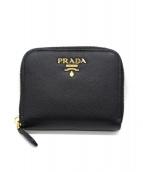 PRADA(プラダ)の古着「ラウンドジップコインケース」 ブラック