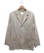 Toujours(トゥジュー)の古着「コットンリネン3Bジャケット」|ベージュ