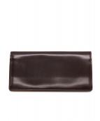 CYPRIS(キプリス)の古着「コードバンレザー長財布」 ブラウン