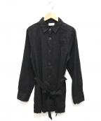 MOGA(モガ)の古着「リネン混シャツ」|ブラック