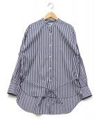 allureville(アルアバイル)の古着「ストライプシャツ」|ホワイト×ブルー
