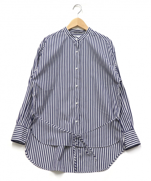 allureville(アルアバイル)allureville (アルアバイル) ストライプシャツ ホワイト×ブルー サイズ:2 ×THOMAS MASON 日本製の古着・服飾アイテム