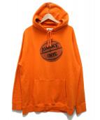 AWAKE(アウェイク)の古着「6.5oz Hoop Logo Parka」|オレンジ