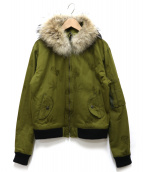 lucien pellat-finet(ルシアンペラフィネ)の古着「ファー付N-2Bジャケット」|オリーブ