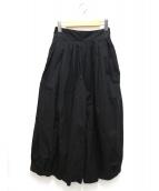 HARVESTY(ハーベスティー)の古着「40コーマ糸ツイルサーカスパンツ」|ブラック
