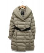 TATRAS(タトラス)の古着「ベルト付きダウンコート」|サンドベージュ
