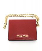 MIU MIU(ミウミウ)の古着「カードケース」|レッド