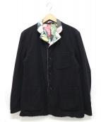 Engineered Garments(エンジニアードガーメン)の古着「リバーシブルウールボタニカルジャケット」|ブラック
