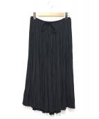 yuni(ユニ)の古着「割繊ランダムプリーツスカート」|ブラック