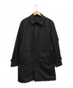 JOSEPH HOMME(ジョゼフ オム)の古着「ライナー付クロスストレッチステンカラーコート」 ブラック