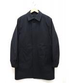 JOSEPH HOMME(ジョセフオム)の古着「ライナー付ストレッチクロスステンカラーコート」|ブラック