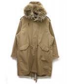 beautiful people(ビューティフルピープル)の古着「c.double cloth mods coat」|ベージュ