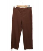 FRANK LEDER(フランクリーダ)の古着「ウールトラウザーパンツ」|ブラウン