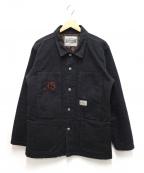 Pherrow's(フェローズ)の古着「キルティングカバーオール」|ブラック