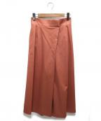 qualite(カリテ)の古着「サテンストレッチワイドパンツ」|ピンク
