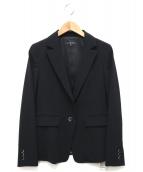 LAUTRE AMONT(ロートレアモン)の古着「ウォッシャブルテーラードジャケット」|ブラック