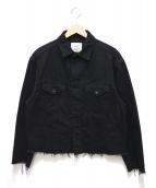 bukht(ブフト)の古着「カットオフデニムジャケット」|ブラック