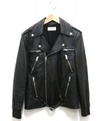 Saint Laurent Paris(サンローランパリ)の古着「ダブルライダースジャケット」|ブラック