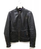 Aero LEATHER(エアロレザ)の古着「ホースハイドレザージャケット」|ブラック