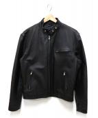 HORN WORKS(ホーンワークス)の古着「シングルライダースジャケット」|ブラック