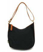 IL BISONTE(イルビゾンテ)の古着「3WAYキャンバスバッグ」|ブラック×ブラウン