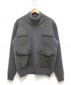 A.P.C(アーペーセー)の古着「コマンドポケットジップニット」|グレー