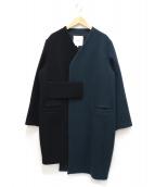 UN3D.(アンスリード)の古着「BI COLOR CT」|ブラック×グリーン