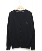 BURBERRY BLACK LABEL(バーバリーブラックレーベル)の古着「Vネックカーディガン」|ブラック