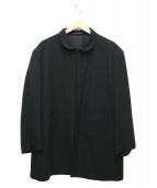 YohjiYamamoto pour homme(ヨウジヤマモトプールオム)の古着「スタンドカラーウールギャバジンジャケット」|ブラック
