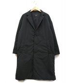 BEAMS(ビームス)の古着「中綿イージーチェスターコート」|ブラック
