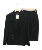 CHANEL(シャネル)の古着「ココマークボタンジャケットセットアップ」|ブラック