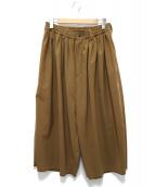 SASQUATCHfabrix.(ザスクワッチファブリックス)の古着「SUPER BIG TAPPERD PANTS」|ブラウン